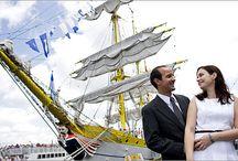 13 Onboard sail ship wedding