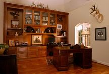 Brookhaven Home Office / Classic & Traditional home office.    Cabinet Design by: Mary Calvin