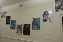 Expositie 2012 / Voor t eerst in een gallerie!!! Laura's aan de muur!!