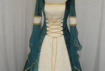 Vestidos Medievais | Viking / Inspirações para roupas femininas da era medieval, viking, celta...