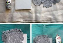 chrochet doilies recycle
