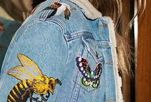 Embellished Denim / Embroidered or embellished denim, especially with an eye towards Autumn 2016 fashion trends.