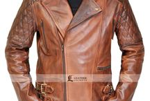 Rustic Brown Quilted Motorcycle Jacket / Buy Stylish Rustic Brown Quilted Motorcycle Jacket for your bike rides and get FREE Shipped to your doorsteps in USA, UK and Canada.