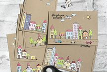 Karten mit SU - In the City - Stadt, Land, Gruß