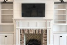 bookshelves and fireplaces