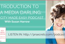 Podcast: Be a Media Darling /  In this podcast I'll show you how to get publicity with integrity and spirit—and then double or triple your business by using sound bites effectively. You'll understand how to authentically package, promote and profit from your mission and message while you shine in the media spotlight. We'll be covering different topics each day. You can listen to everything, in chronological order, or bop around and choose the specific episodes that speak to you.