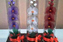çoraptan çiçek yapımı