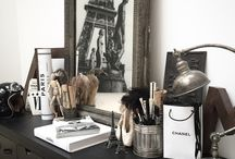 My home in Paris / Interior  home Paris atelje studio black white vintage