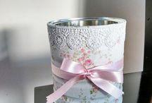 latas decoradas com tecidos