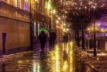 via notturna illuminata x esempio colore luci