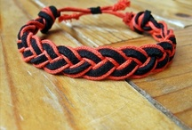 Braided and knotted bracelets - handmade by myself / by Christine Hirler