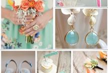 aqua peach wedding