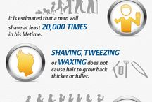 Shavers Infographics / Grat looking infographics about men shaving and men shavers.
