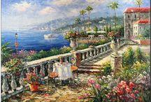 mediterranean  sea landscape / by Mina Lee