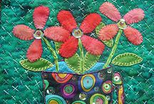 Crazy Quilt Inspiration / I have always enjoyed crazy quilts with their mix of fabrics, textures and embroidery. It's fun creating them too.