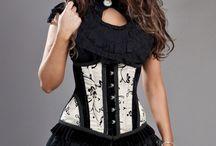 Cream underbust corset