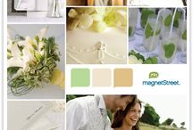 green-white wedding