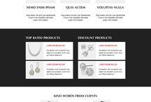 jewelry landing page design