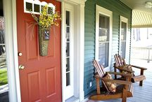 Spring Porch Decorating Ideas / Add a bright spot of spring to your porch to help welcome the warmer weather and bright flowers with these inspiring ideas. / by Mary @ Front Porch Ideas and More