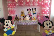 Fiesta Mickey Baby / decoración fiesta mickey baby bogota,
