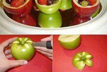 sculpture légumes et fruits