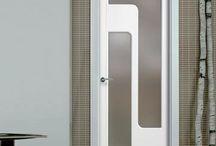 """Sanrafael Lacada Glass Doors / The beautiful prefinished San Rafael Lacada 914V glazed door with """"D"""" groove designs. #lacadadoors #directdoors"""