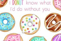 Donuts / Donut inspired designs, printables and products, DIY projects, food and photos.