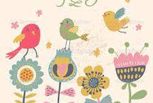 ilustraciones infantiles de pájaros