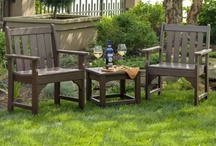 POLYWOOD Conversation Sets / POLYWOOD Conversation Sets invite you to relax and enjoy life with your family and friends. Enjoy a wide array of choices for patio conversation sets, from those that include cushions to the classic adirondack look so many of us have grown to love. Outdoor conversation sets provide the perfect complement to your backyard and will quickly become a beloved gathering place while entertaining.