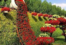 JARDINES CURIOSOS / De todas las partes del mundo hemos recogido esta selección de jardines curiosos que nos encanta. Arte con flores