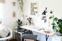 Productive Spaces / Office space, desks, organization and general decor.