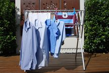 Mini -  Indoor clothes airer portable washing line / Just need to dry a few things in front of the heater? The Mini clothes airer is for you. Sturdy, yet small, easy to fold, this indoor clothes airier is a great alternative to the clothes horse which can be awkward to erect and disassemble. Great for camping or caravanning, the Mini clothes airer is a great item to own due to its varied applications.