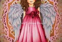 Angel Wings Rubber Stamps / Angels for those of us who have lost children, dogs, cats, and inspiration.