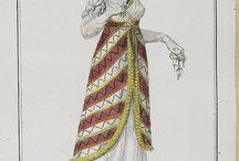 empire robe avec tunique / suknie empirowe z tuniką