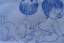 Ζωγραφιές για μπεμπε μωρά σ σεντόνια