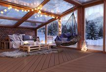 Taras zimą - pomysły i inspiracje / Taras tylko latem? Niekoniecznie! Sprawdź jak pięknie wygląda taras zimą.