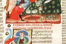 Miniature: scene / Illuminated scenes / Scene quotidiane e non dai manoscritti malatestiani, con coloratissime e dettagliate immagini dai codici S.IV.1, S.IV.2 del sec. XIV e altri #codex #manuscript