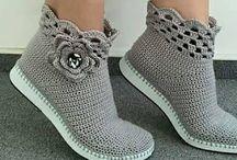 sapatos crochê