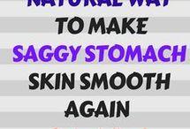 saggy stomach skin