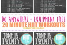Workin' It / Workouts/exercises for home  / by Carla Fox-Hawthorne