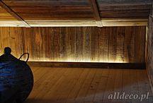 Wnętrza / Emenagment / Inneneinrichtung / Interior design / Stare drewno