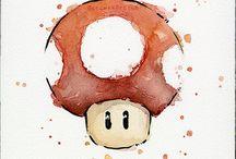 Aquarelles Mario World