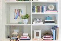 shelves mantel
