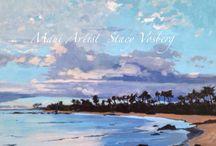 Hawaiian Sunsets / My photos and paintings of Hawaiian sunsets