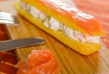 éclair au saumon