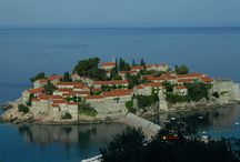 Sveti Stefan, Hotel-town, Montenegro / Near Budva, Photo from the bus