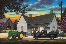 Pamela Renfroe puzzles + paintings / Paintings and illustrations by Pam Renfroe. It's not all Springbok Puzzles!