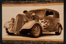 Woodburning cars