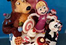 Masa a medved cake