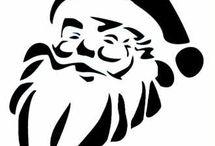 Дед Мороз - Трафареты для оформления праздника Новый Год!